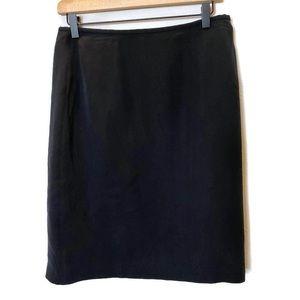 Josephine Chaus- Black SILK pencil skirt